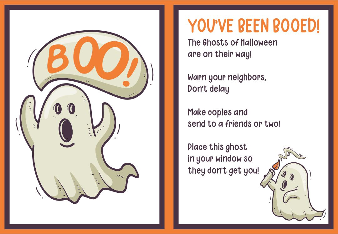 6 Images of Printable Halloween Boo Game