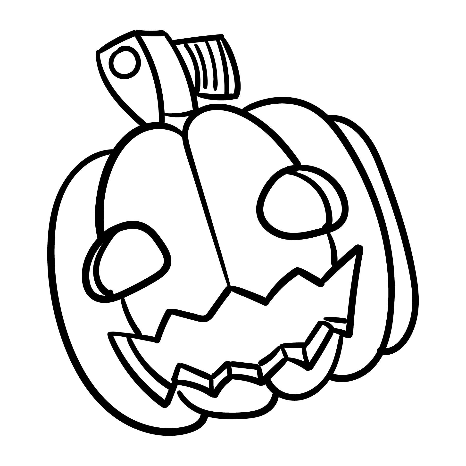 4 Images of Halloween Coloring Pumpkin Printable