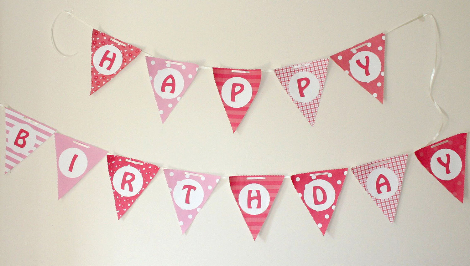 6 Images of Birthday Bunting Printable