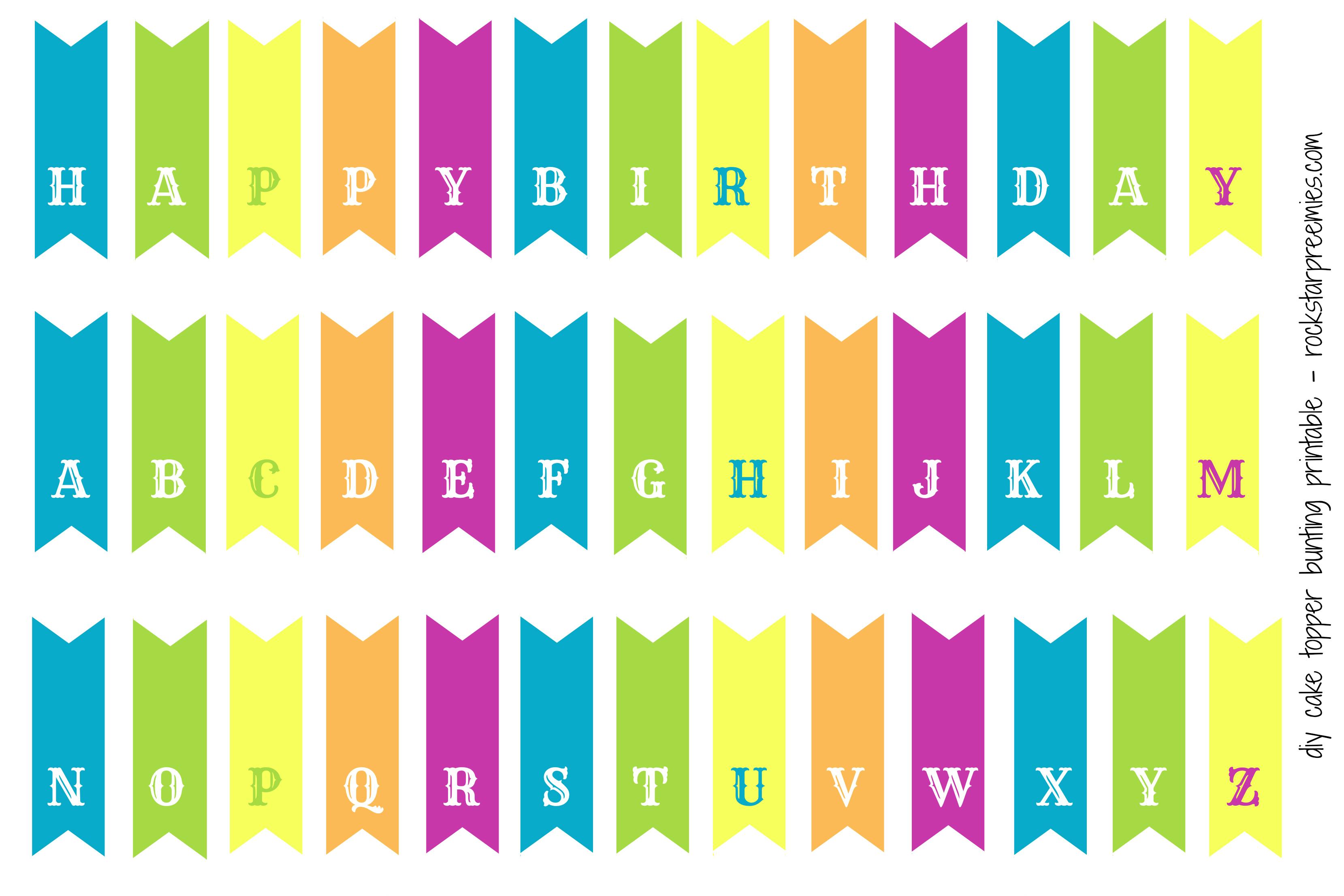 Happy Birthday Cake Bunting Printable