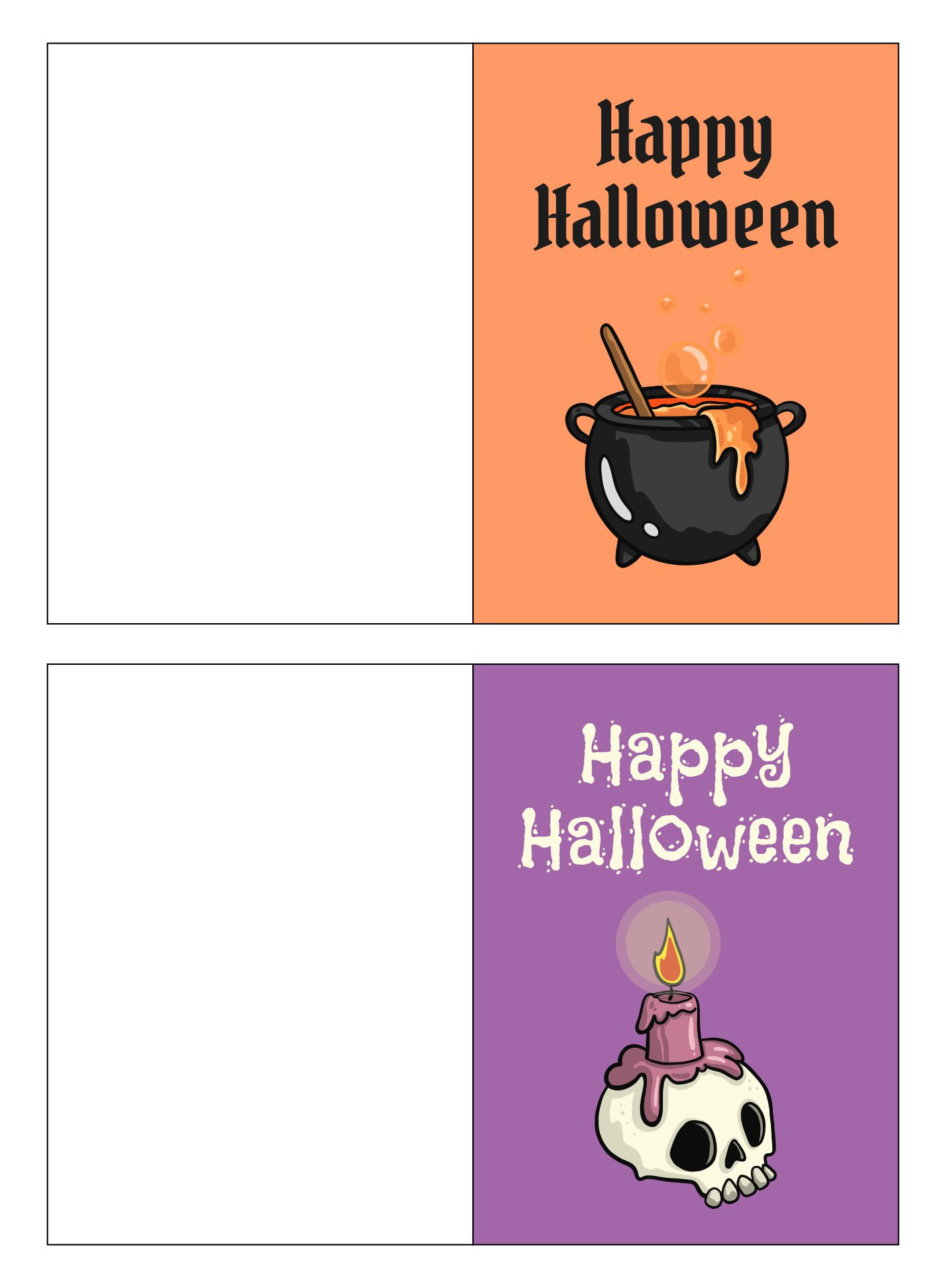 5 Images of Halloween Greeting Cards Printable