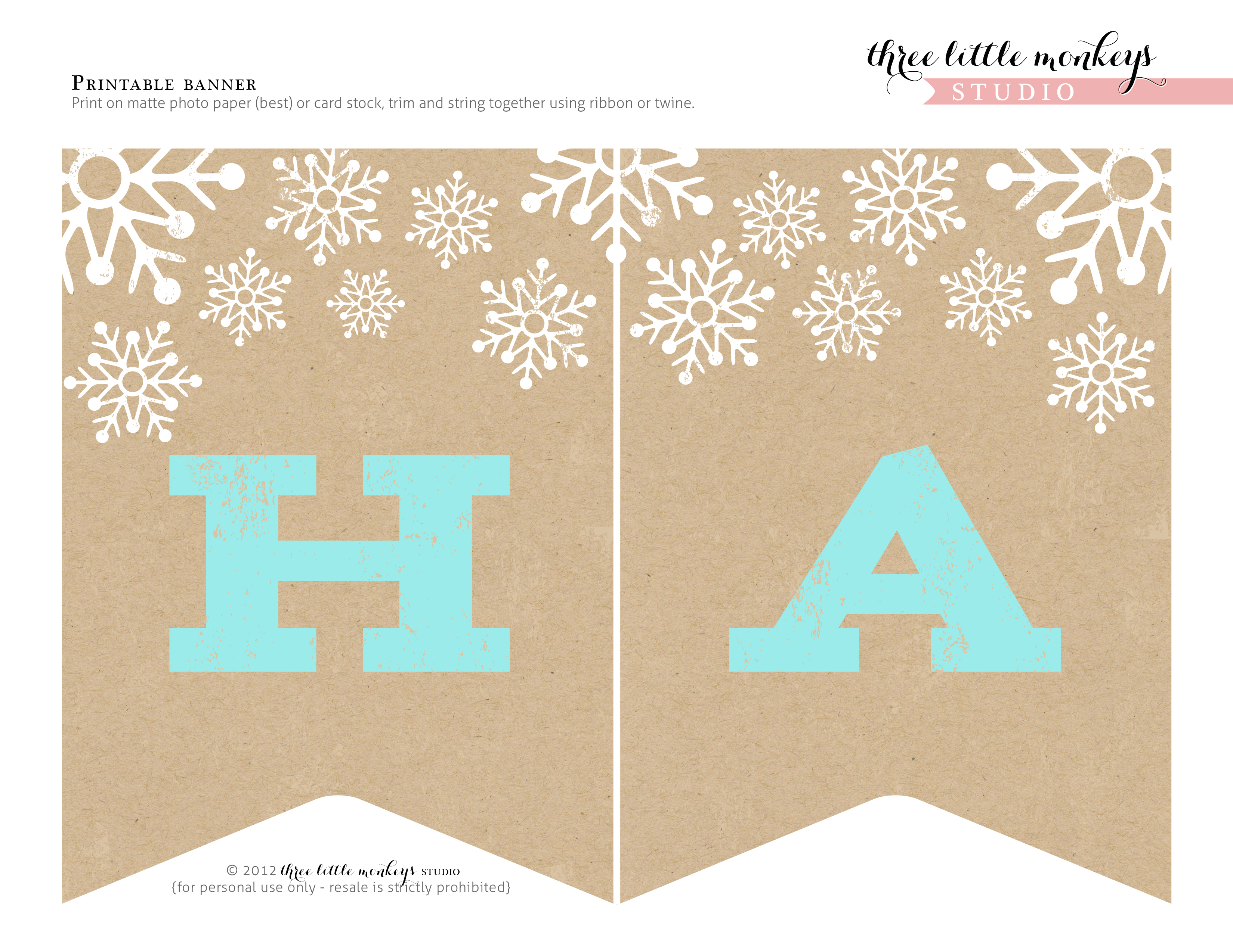 6 best images of free winter banner printable winter