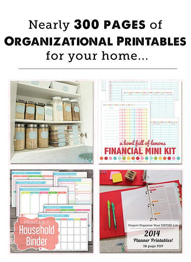 Household Organization Binder Printables