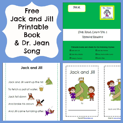 Jack and Jill Nursery Rhyme Printable