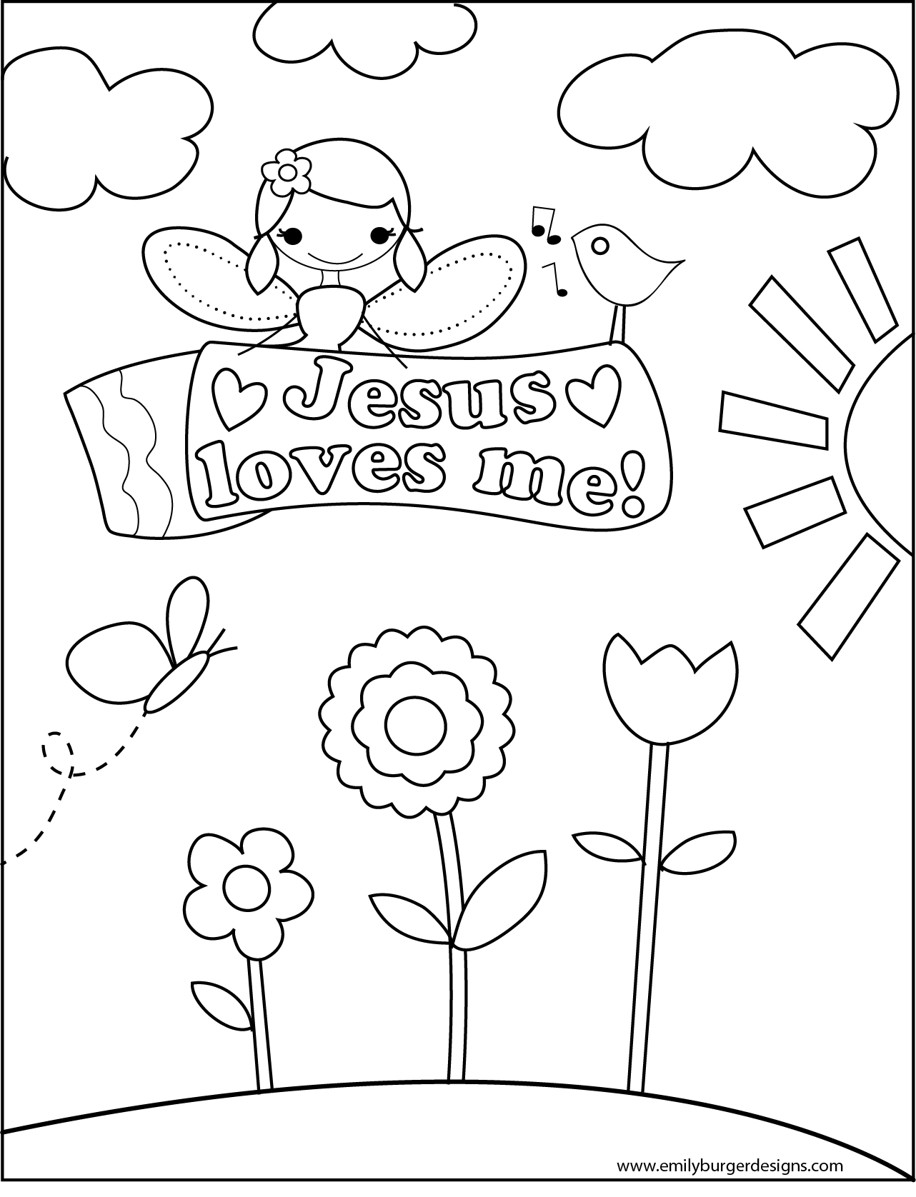 6 Best Images Of Jesus Loves Me Printables