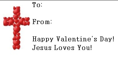 4 Images of Jesus Loves You Printable Card Free