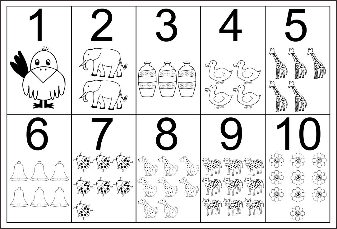 Kindergarten Number Worksheets 1 10
