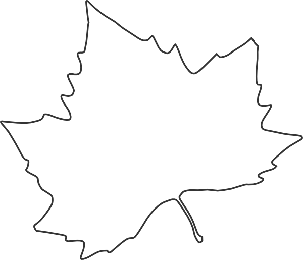 6 Images of Leaf Outline Printable Template