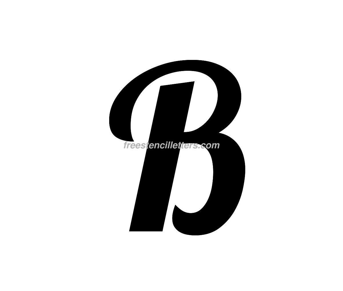 Worksheet Cursuve B 8 best images of printable letter stencil b free pumpkin stencil