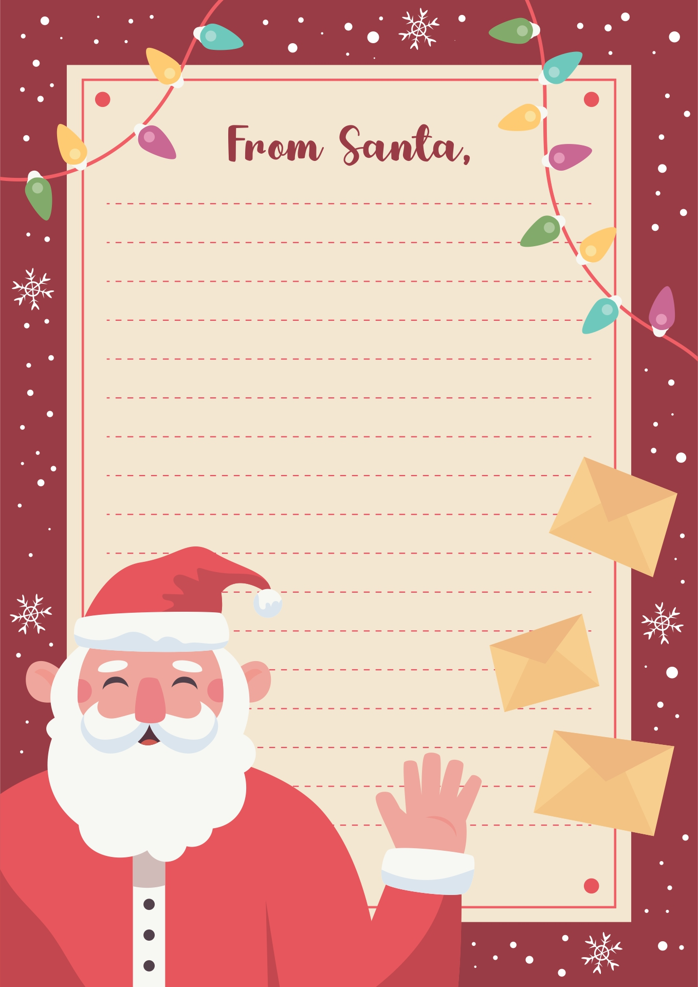 7 Images of Free Printable Santa Letters Templates