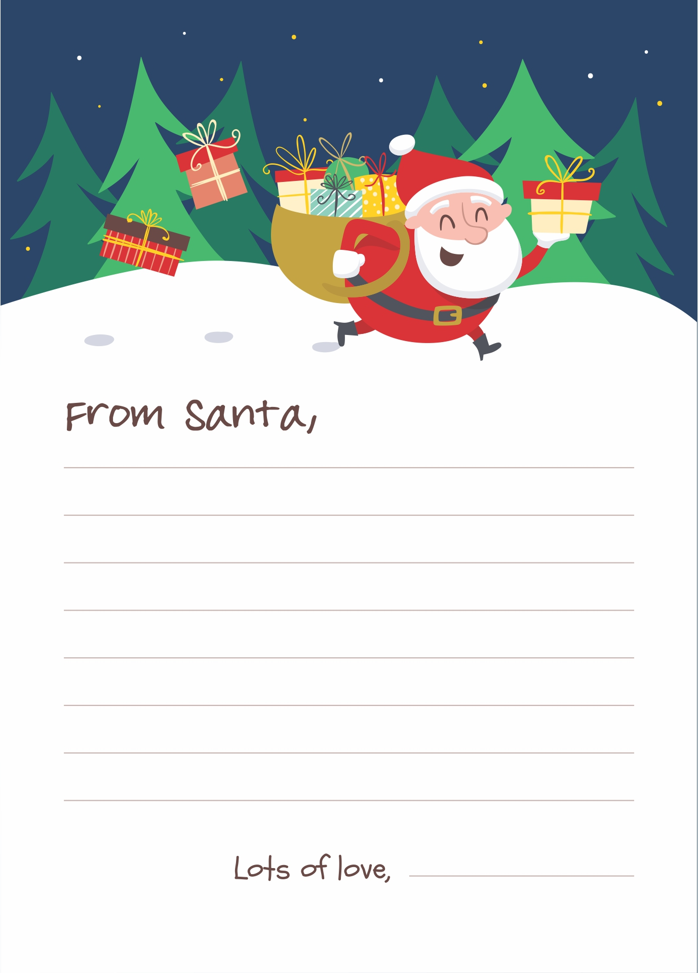 letters from santa templates to print for free 7 best images of free printable santa letters templates 29106