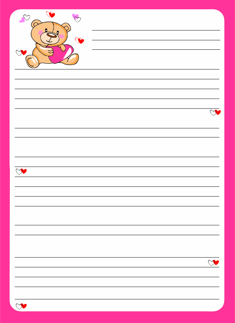 Letter Writing Paper with Borders