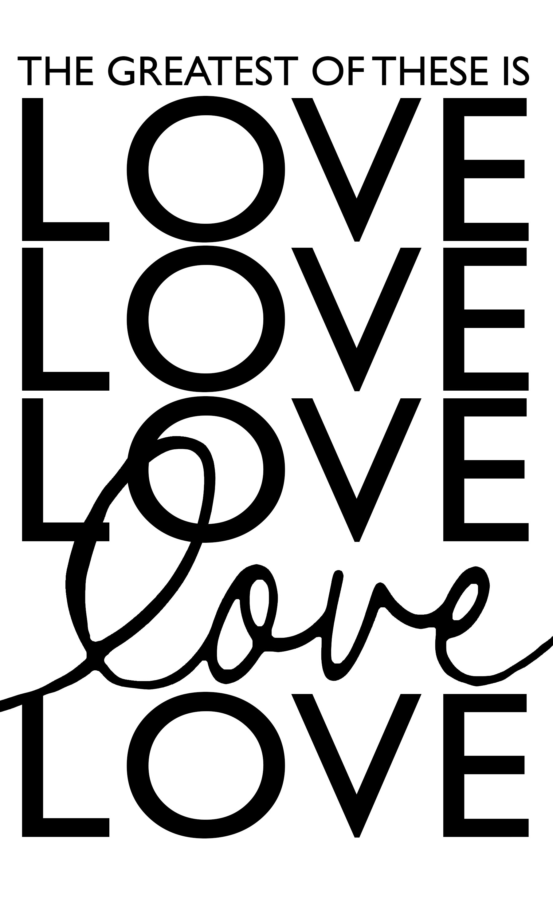 Love Stencils Free Printable Sign