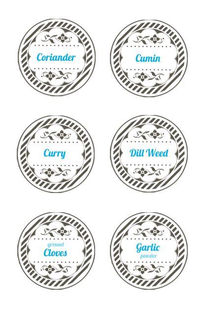 6 Images of Mason Jar Lid Label Templates Printable