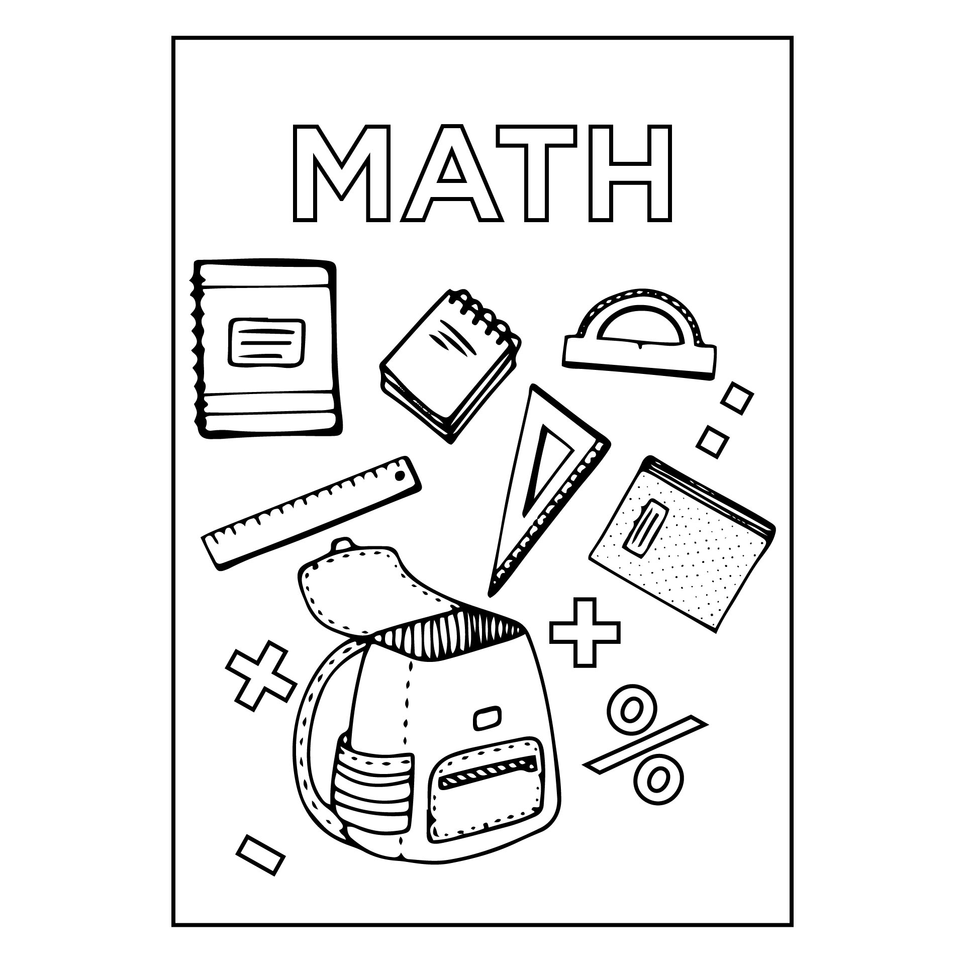 5 Best Images of Math Binder Cover