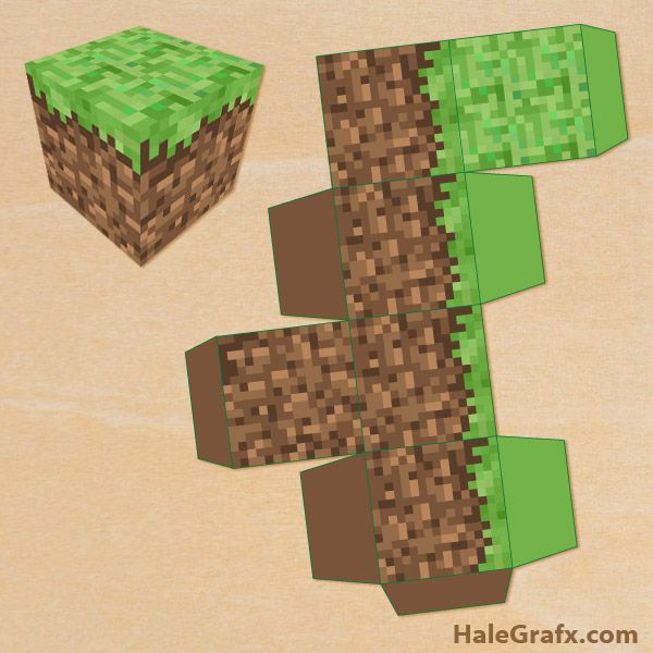 Minecraft Free Printable Treat Box