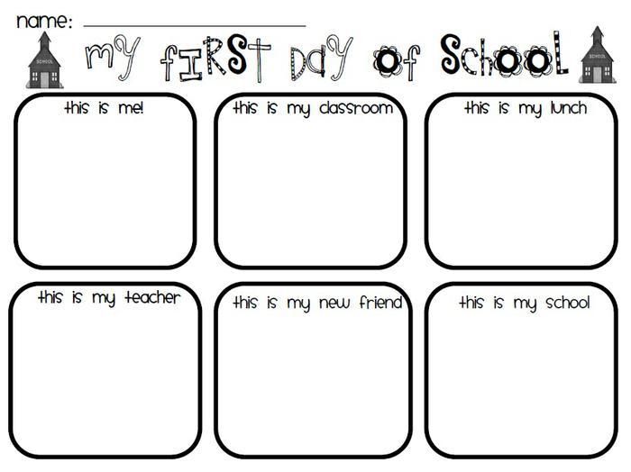 Collection of First Day Of Kindergarten Worksheets Sharebrowse – First School Worksheets