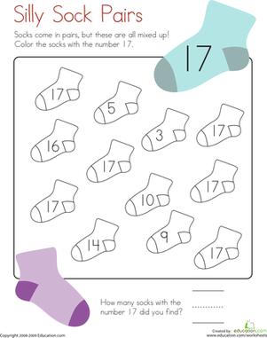 6 Best Images of Printable Math Worksheets Number 17 - Number 17 ...