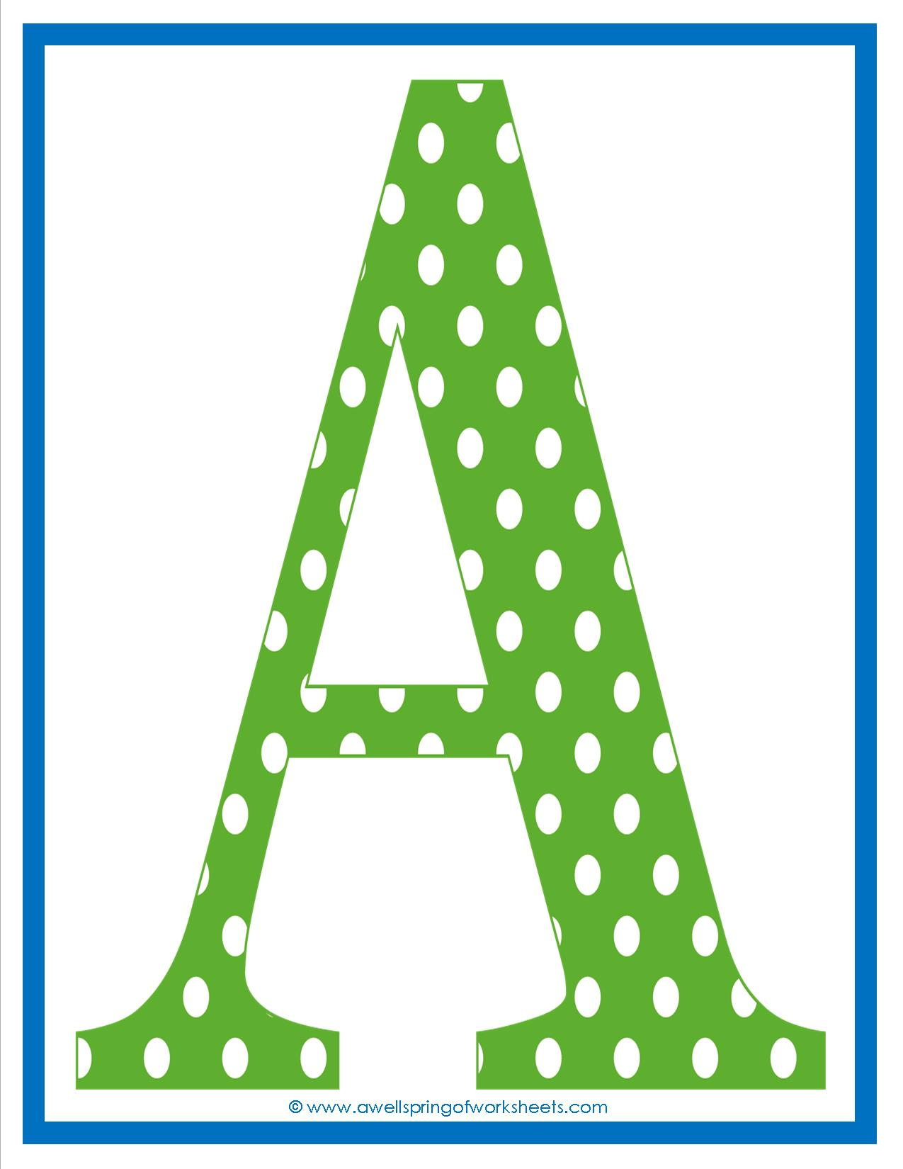 Galerry polka dot alphabet coloring pages