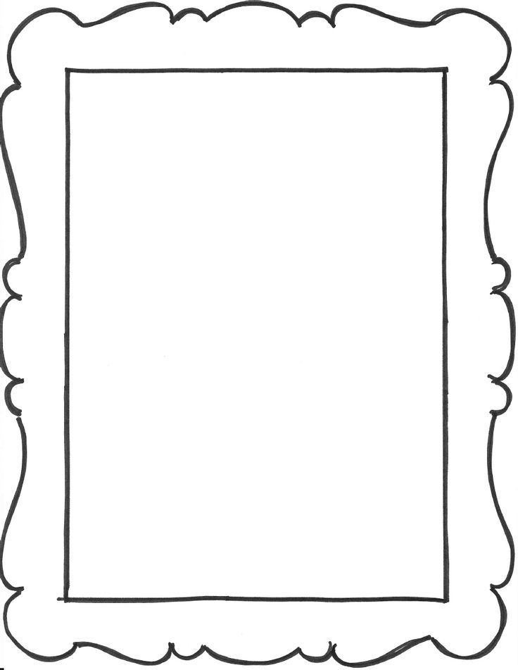 8 Images of Frame Outlines Free Printable