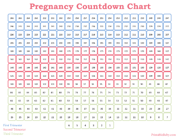 5 Images of Baby Countdown Calendar Printable