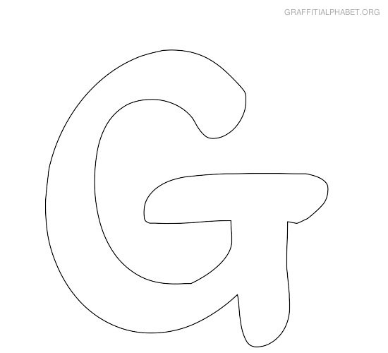 best images of large printable bubble letter g letter g cut out