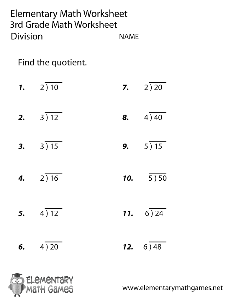 Worksheet Free Division Worksheets Grade 4 free printable math division worksheets for 3rd grade 4 best images of printable