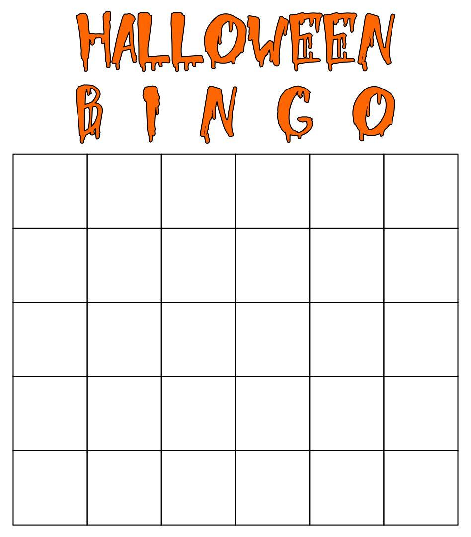 Printable Halloween Bingo Cards Blank