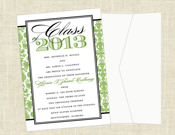 6 Images of High School Graduation Invitations Printable