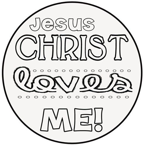 6 Best Images of Jesus Loves Me Printables  Printable Jesus Loves
