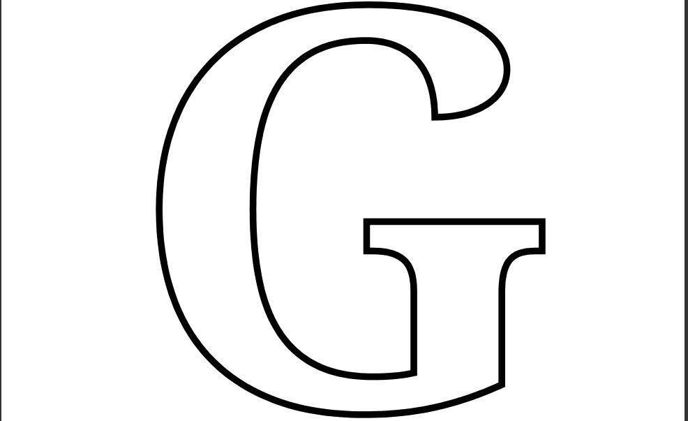 Large Printable Bubble Letter G - Letter G Cut Out, Big Bubble Letters ...