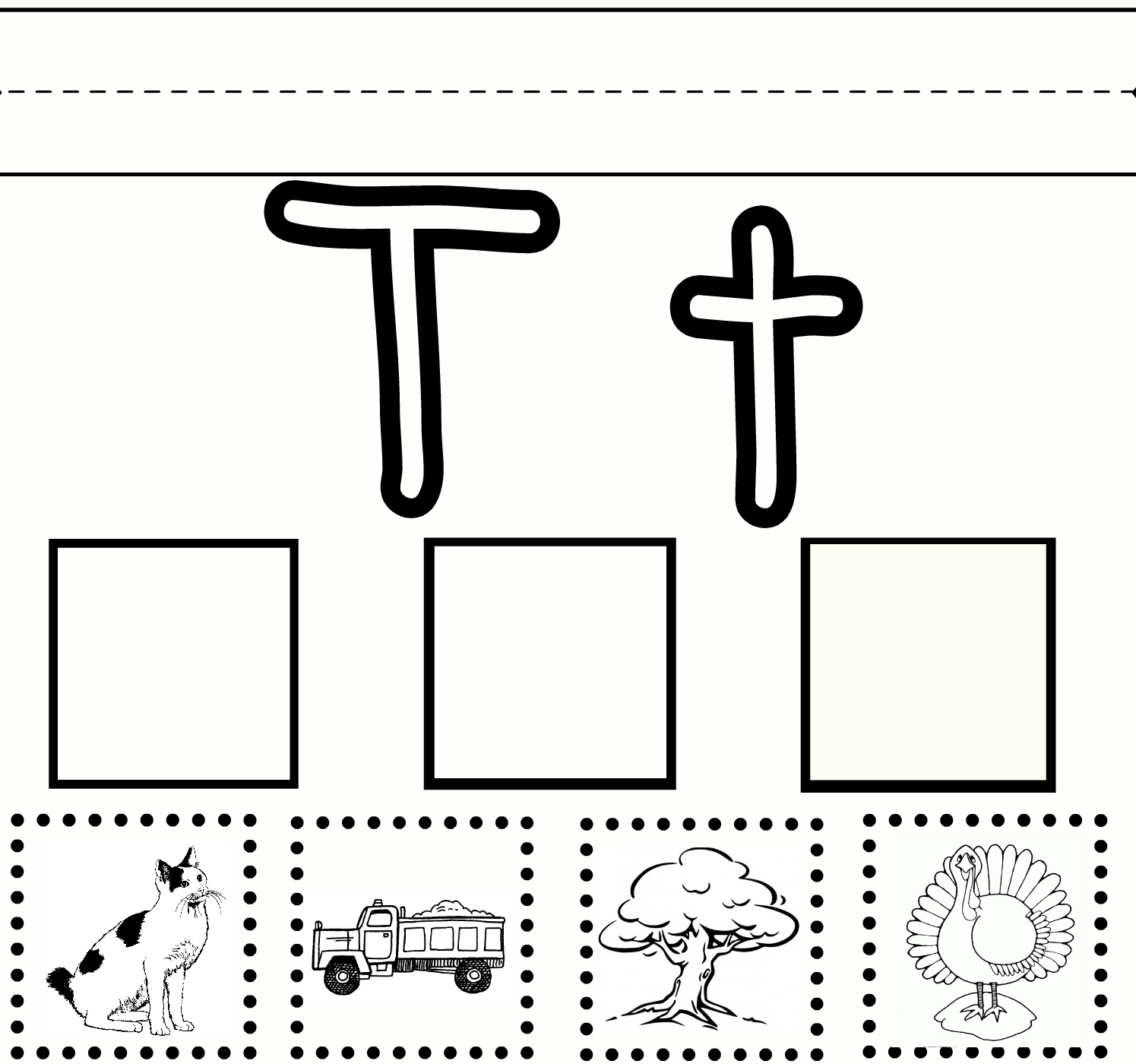 Worksheets Letter T Worksheets Preschool 6 best images of preschool letter t printables printable worksheet