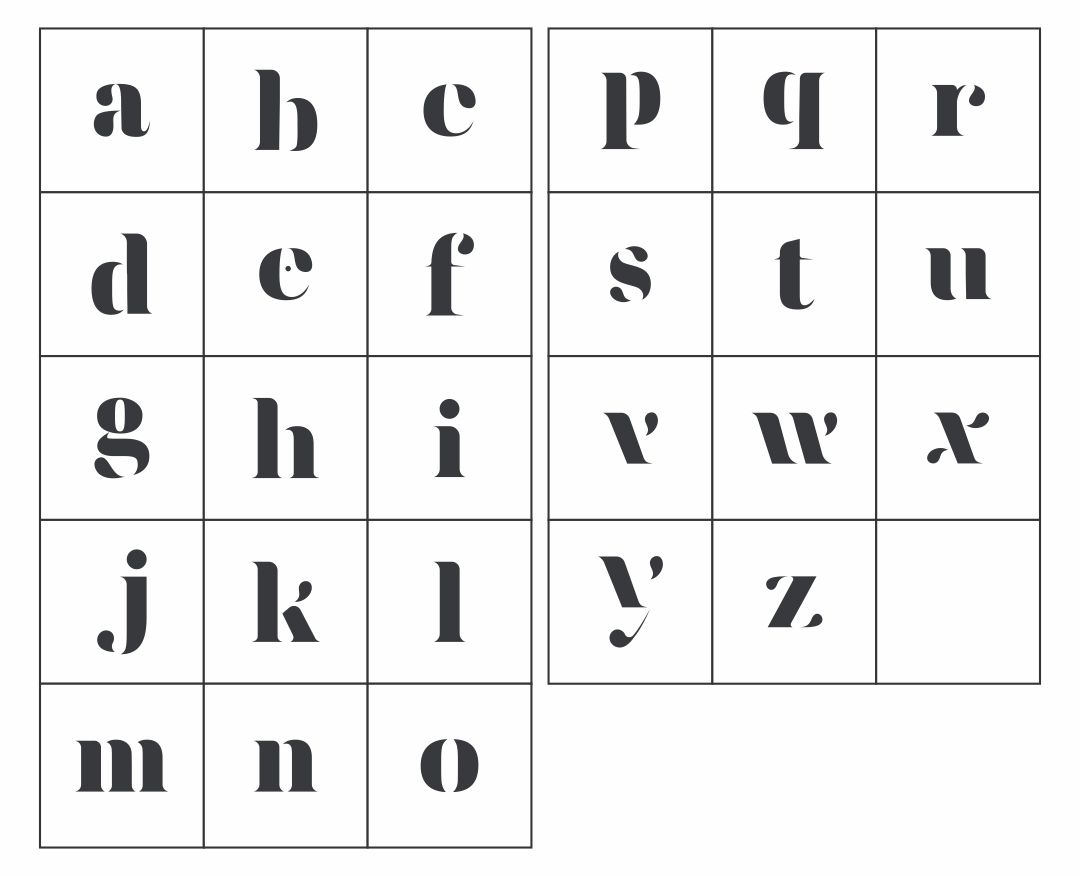 Printable Lower Case Alphabet Letters