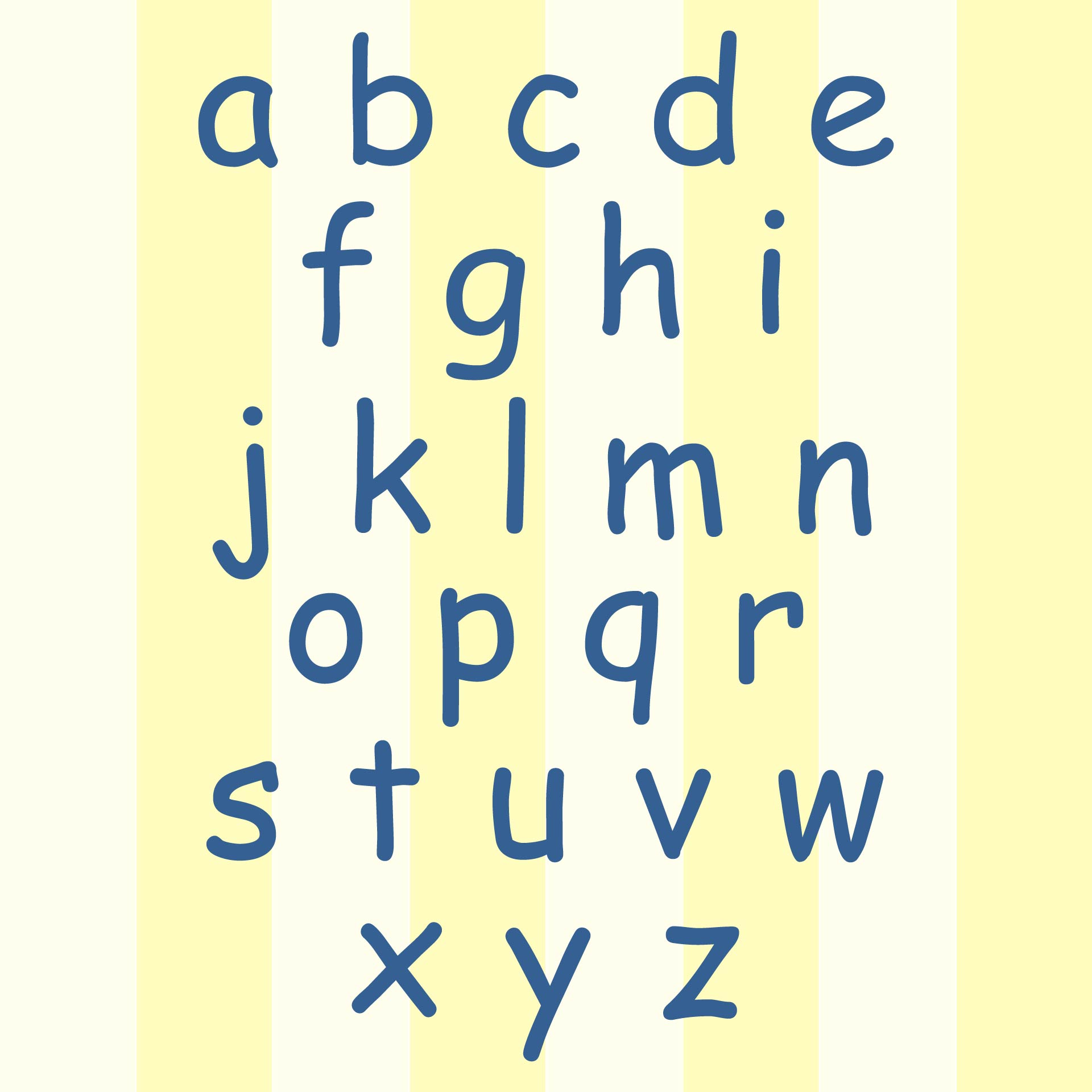 Printable Lowercase Alphabet Letters