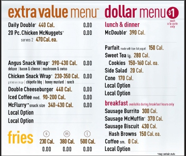 6 Images of McDonald's Restaurant Menu Printable