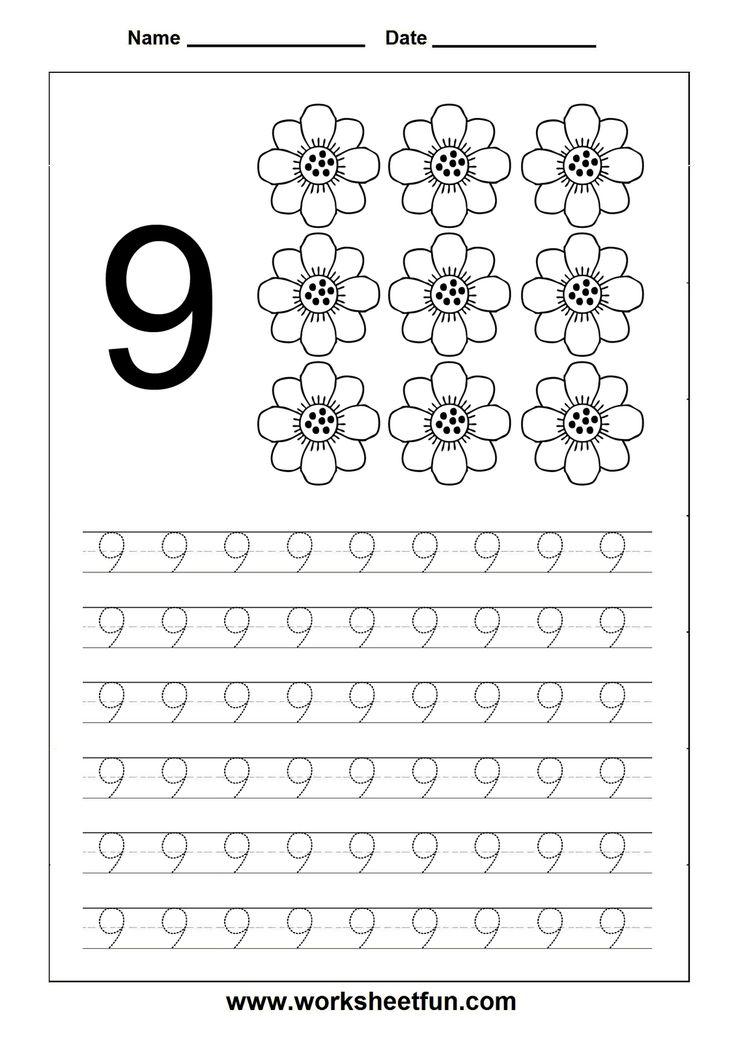 Tracing Numbers Worksheet 1 Printable Worksheets For Kids