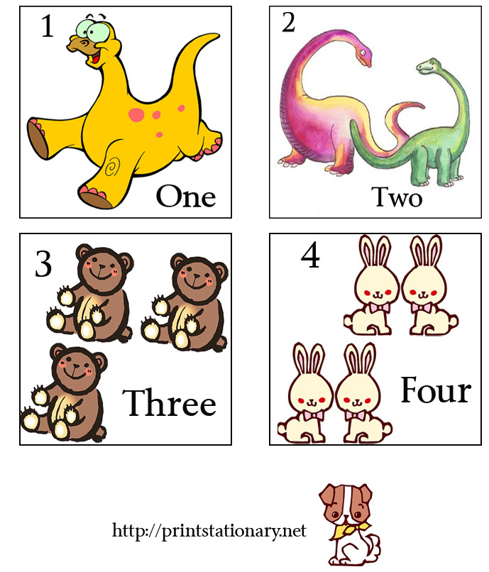 6 Images of Printable Number Flash Cards 1 -20