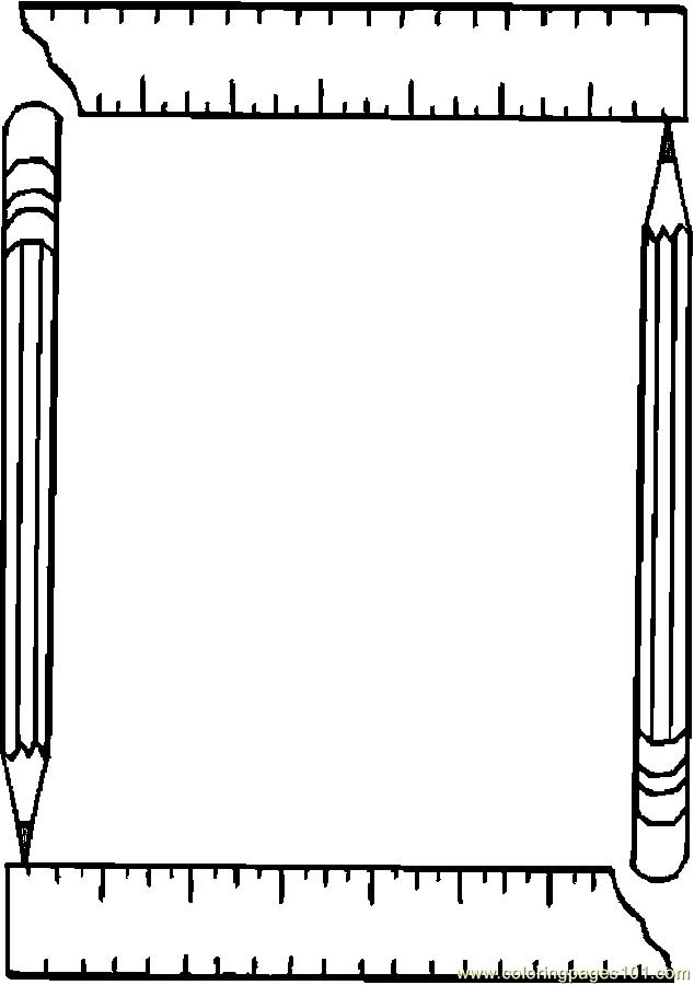 Printable Picture Frame Coloring Page