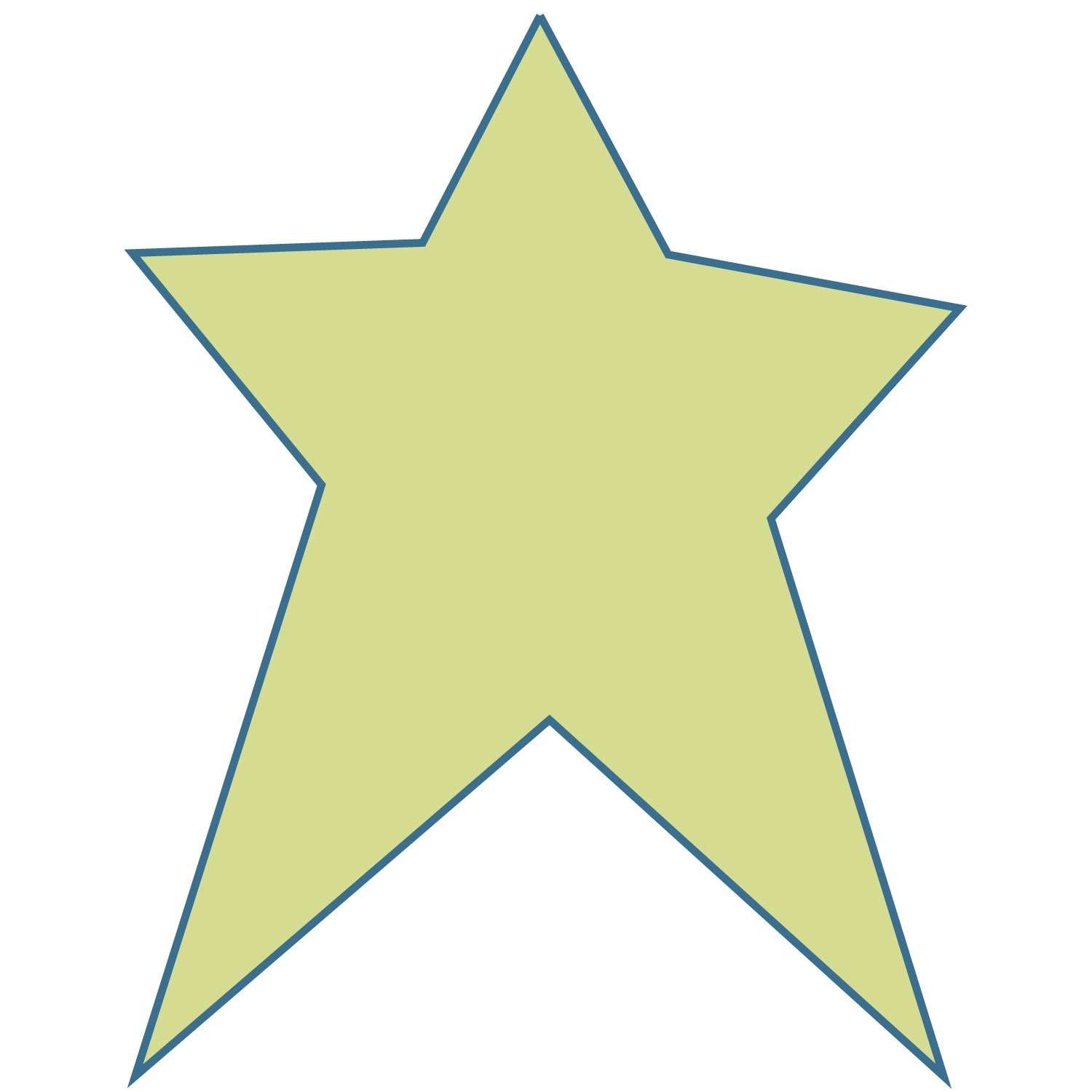 5 Images of Free Printable Primitive Star