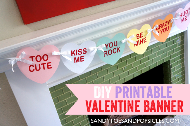 8 Images of Free Printable Banner Happy Valentine's
