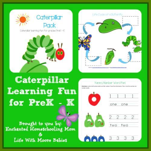 6 Images of Hungry Caterpillar Free Printable Preschool Packs