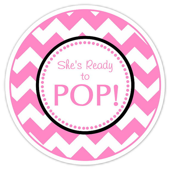 6 best images of free printable baby shower ready to pop for Ready to pop stickers template