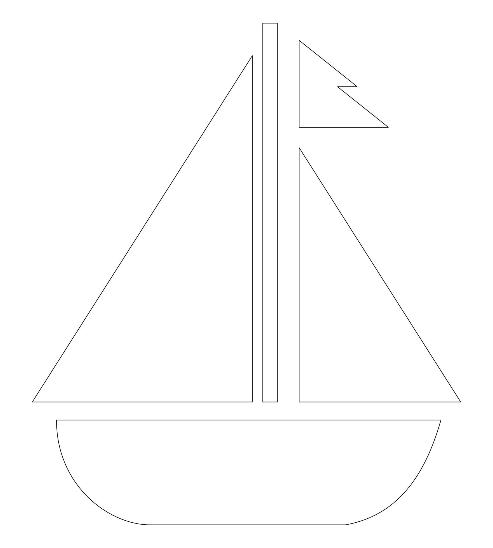 Sailboat Craft Pattern