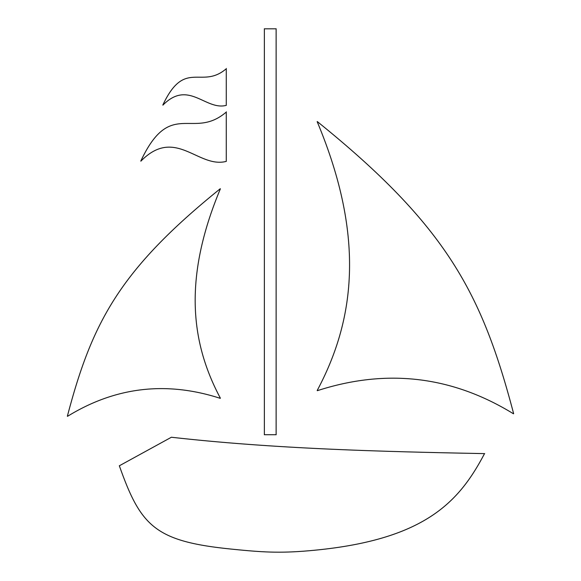 5 Images of Free Printable Sailboat Stencils