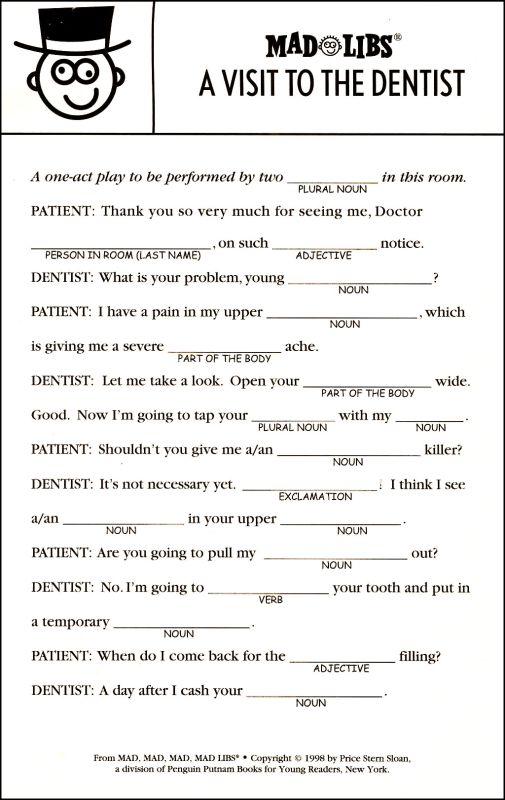 This is a photo of Printable Mad Libs Sheets for Adults pertaining to 8th grader