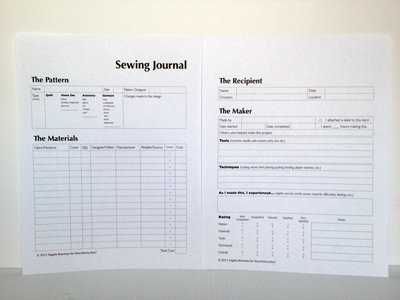 7 Images of Sewing Journal Printable Pages
