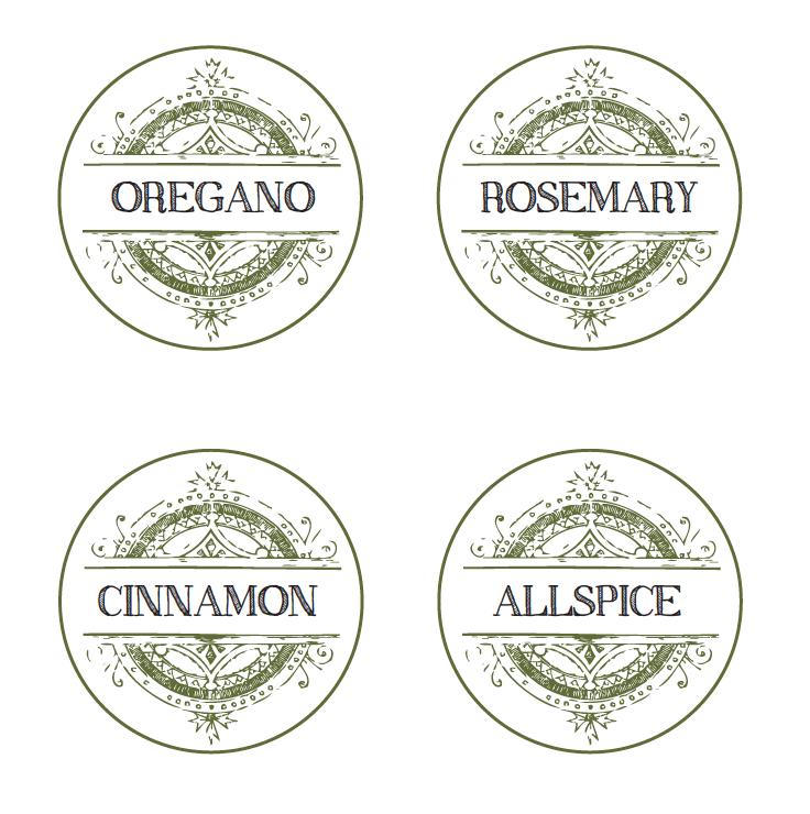 Spice Label-Free Printables