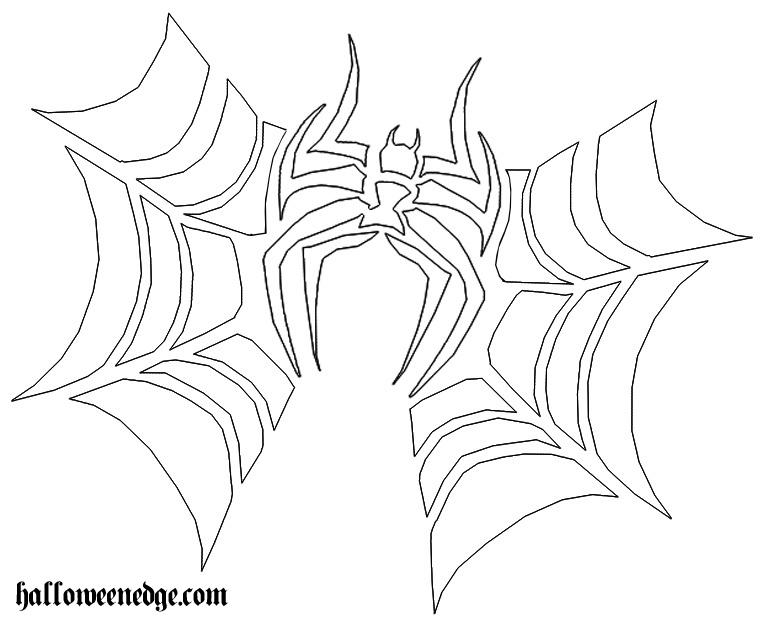 6 best images of printable pumpkin carving patterns spider spider web pumpkin carving patterns. Black Bedroom Furniture Sets. Home Design Ideas