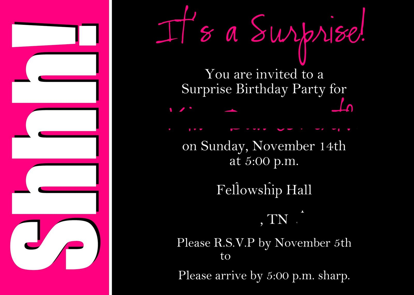 surprise party invitations templates com best images of surprise party printable invitation templates
