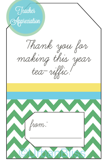 7 Images of Teacher Appreciation Tea Printable Tags